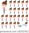Bun hair mom Pants style 18202932