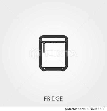 Simple Household Web Icons: Fridge 18209035