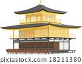 Kinkakuji Temple, kinkakuji, world heritage 18211380
