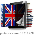 Learn English - Tablet Computer and Books 18211720