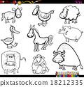 farm animals set coloring book 18212335