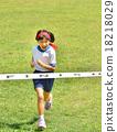 달리는 소녀 (체육복, 골 테이프, 잔디) 18218029