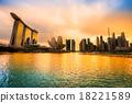 Singapore city skyline. 18221589