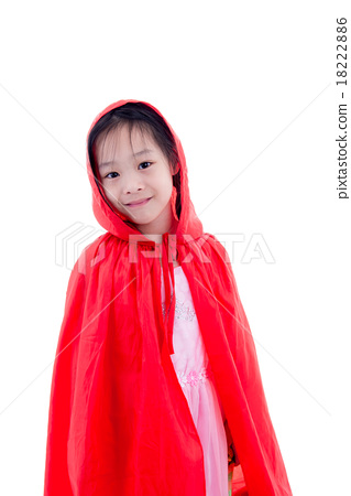 Girl in Little Red Riding Hood costume 18222886