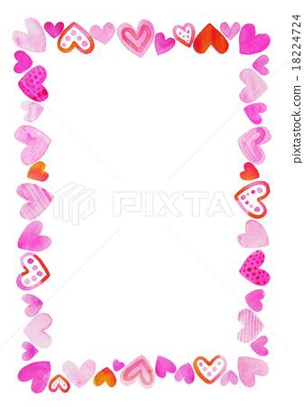 발렌타인 하트 프레임 A4 18224724
