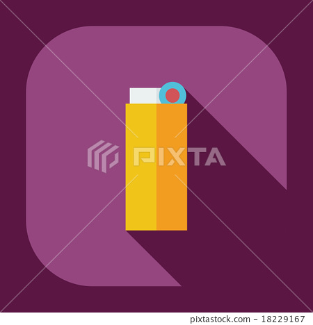 Flat modern design with shadow icons lighter 18229167