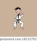 Man martial art punching 18232702