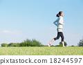 여성, 여자, 달리기 18244597