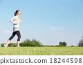 여성, 여자, 달리기 18244598