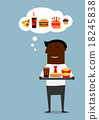 American businessman with fast food lunch 18245838