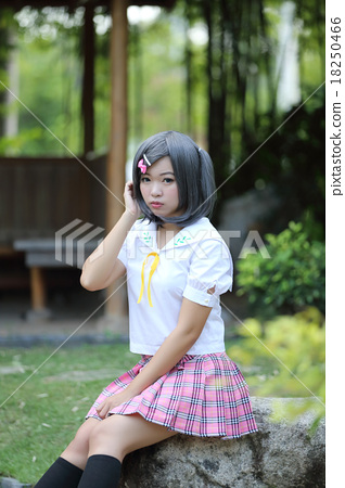 Asian school girl - Stock Photo [18250466] - PIXTA