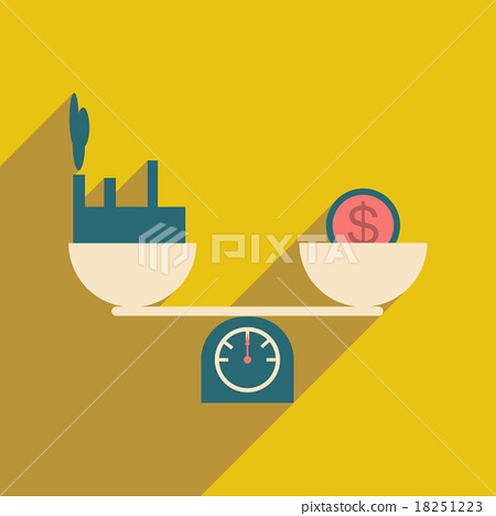 Modern flat icon with shadow House and money on 18251223