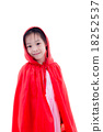 Girl in Little Red Riding Hood costume 18252537