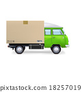 van delivery isolated 18257019