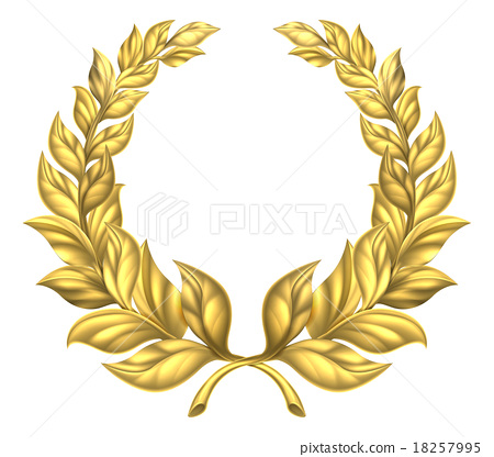 Gold Laurel Wreath 18257995