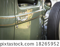 Detail Abstract of Vintage Car Door and Handle 18265952