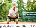 Concept for male tennis player 18266935