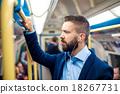 Businessman in subway 18267731