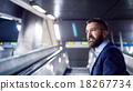 Businessman in subway 18267734