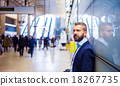 Businessman in subway 18267735