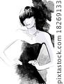 Woman in black dress 18269133