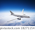 Airplane Skyline Horizon Flight Cloud Concept 18271154