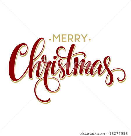 Merry Christmas Lettering.Merry Christmas Lettering Design Vector Stock