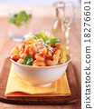 Macaroni with tomato sauce and cheese 18276601