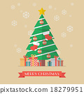 Christmas tree and presents 18279951