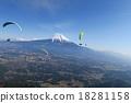 滑翔傘 晴 富士山 18281158