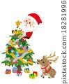 聖誕老人 聖誕老公公 馴鹿 18281996
