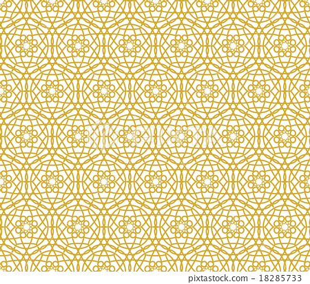 Background With Islamic Seamless Pattern Stock