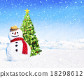 Christmas Holiday Christmas Tree Snowman Decoration Concept 18298612