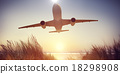Airplane Plane Flying Aircraft Transportation Travel 18298908
