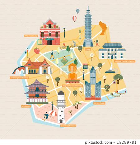 Stock Illustration: sightseeing, vector, vacation