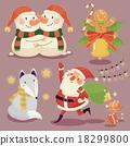 聖誕節 聖誕 狐狸 18299800