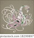 벡터, 패턴, 카드 18299897