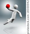 Handball 3D symbol, Olympic sports 18300942