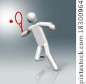 Tennis 3D symbol, Olympic sports 18300964