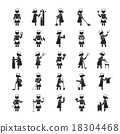 Set of maid  , Human pictogram Icons 18304468