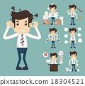 Businessman Stress Pressure Workplace Stick 18304521