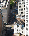 Aerial view of Manhattan streets 18304581