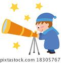 天文观测 观测天空 男孩 18305767