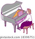 鋼琴 女性 女 18306751