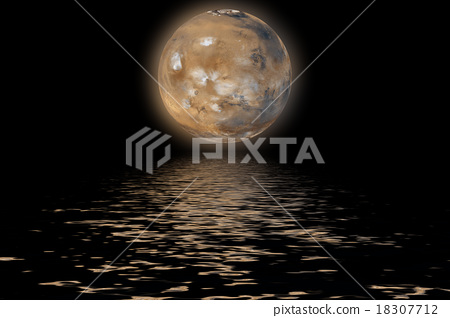 Planet Mars. Elements of the furnished by NASA. 18307712