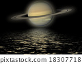 Planet Saturn. Elements of the furnished by NASA. 18307718