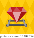 Ruby on the railway, Vector Flat design 18307854