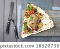 Codfish Filet with Vegetable on Yufka Bread 18320730