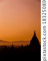 sunrise, myanmar, bagan 18325089