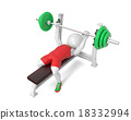 Little white weight-lifter 18332994